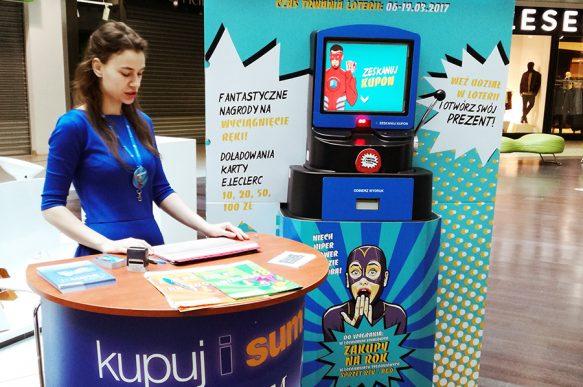 Axia Retail Terminale interaktywne E.Leclerc Gdańsk organizacja loterii