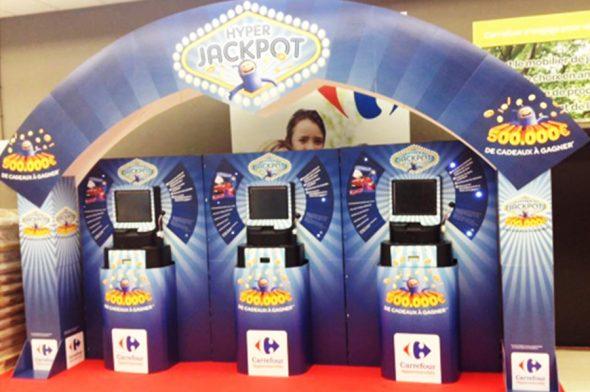 Axia Retail Terminale interaktywne Carrefour organizacja loterii