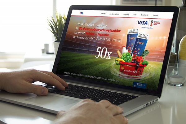 Axia Retail loterie online Carrefour Visa
