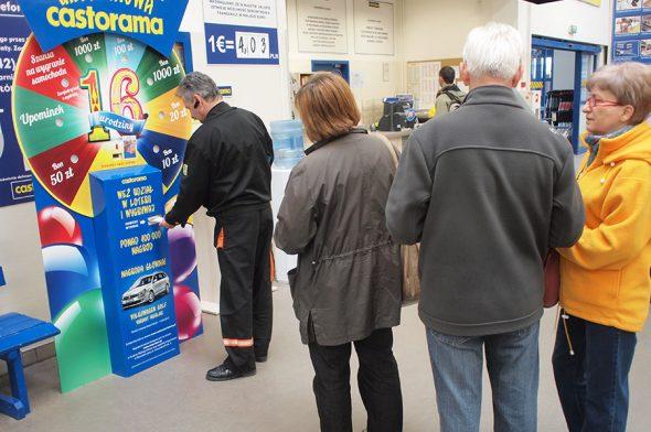 Axia Retail Terminale Interaktywne Castorama organizacja loterii